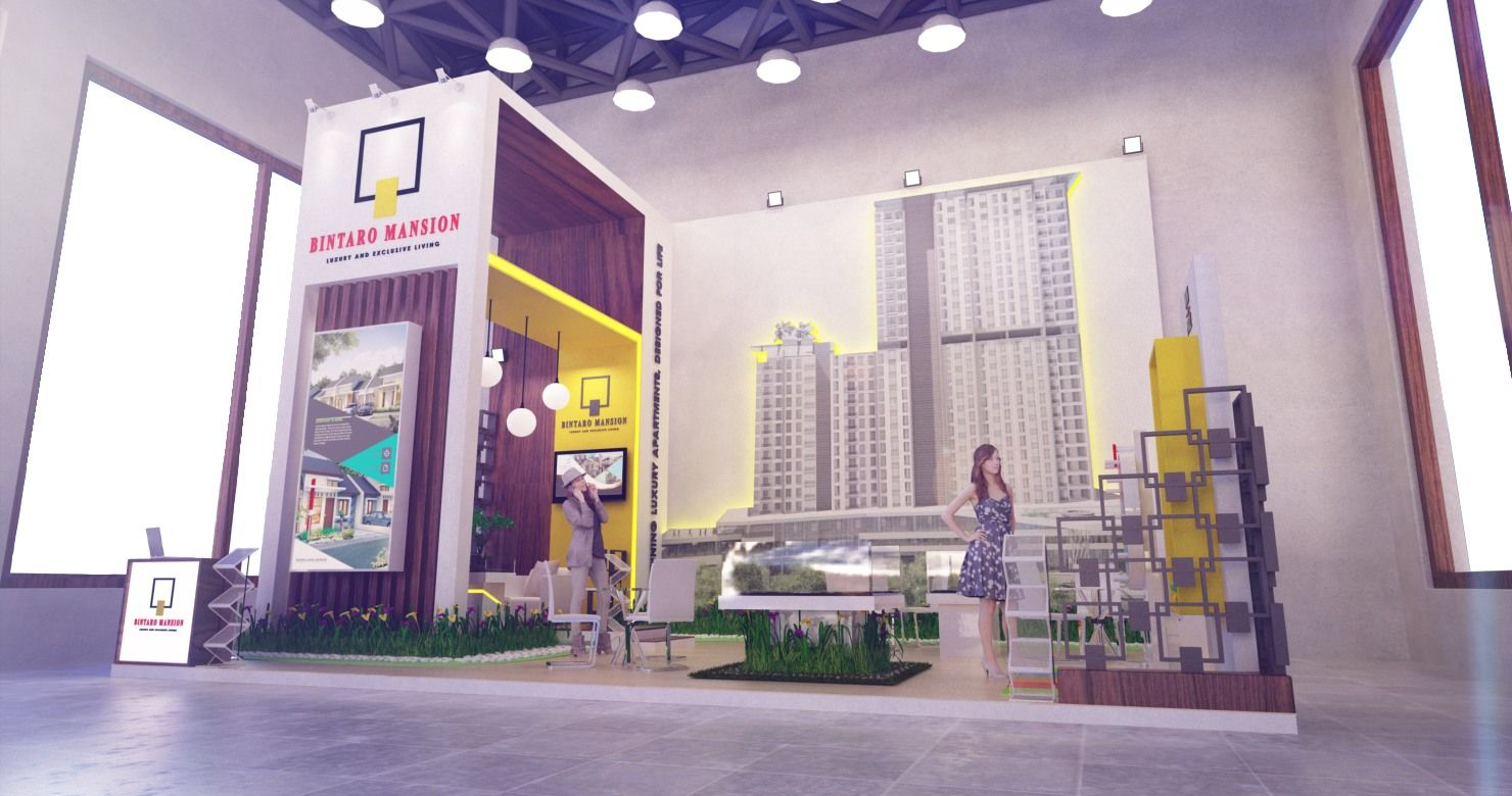 exhibition contractor jakarta-Indonesia exhibit companies- booth bintaro mansion - property expo 2017